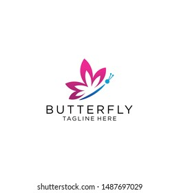 Butterfly logo template vector icon illustration