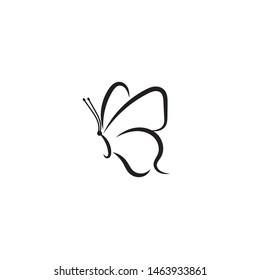 Butterfly Logo template Vector illustration