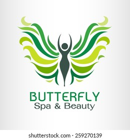 Butterfly Logo vector design template. Spa Beauty salon Logotype