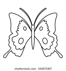 Butterfly outline icon. Illustration of butterfly outline vector icon for web isolated on white background