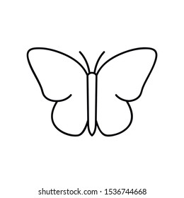 Butterfly outline icon. linear style sign for mobile concept and web design. Insect simple line vector icon. Symbol, logo illustration. Pixel perfect vector graphics