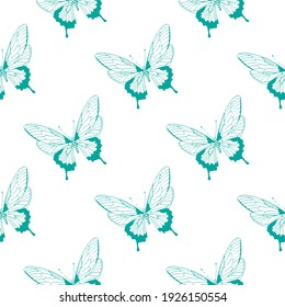 butterfly pattern for textiles, paper packaging, print