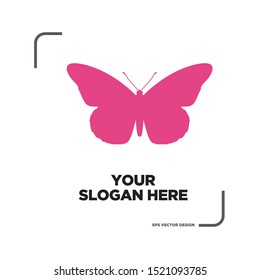 butterfly shape vector logo design abstract template