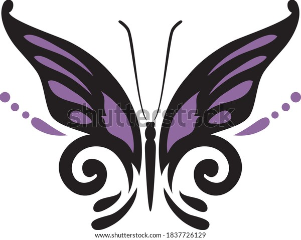 butterfly-silhouette-decorative-element-