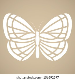 Butterfly silhouette in tattoo style