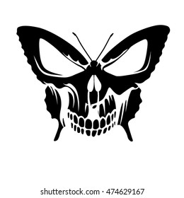 butterfly skull tattoo images stock photos vectors shutterstock rh shutterstock com skull butterfly tattoo meaning skull butterfly tattoo
