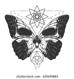 butterfly skull tattoo images stock photos vectors shutterstock rh shutterstock com skull butterfly tattoo sketch skull butterfly tattoos women