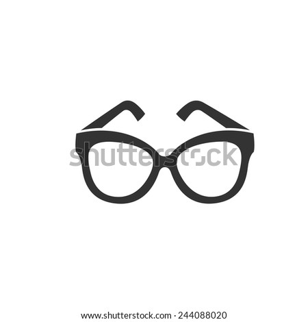 0af0e1f7b2 Butterfly Style Shape Glasses Icon Vector Stock Vector (Royalty Free ...