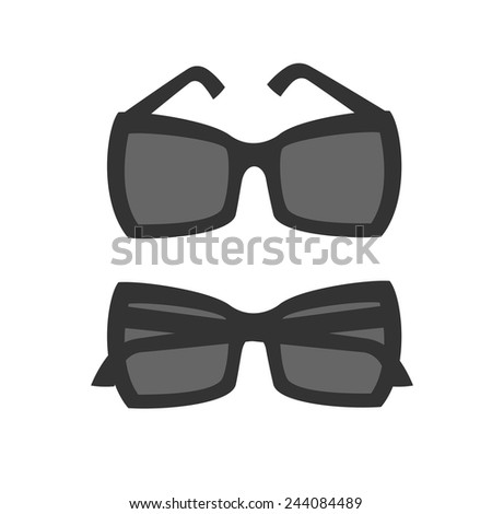 4dd0fc4a67 Butterfly Style Shape Sunglasses Icon Vector Stock Vector (Royalty ...