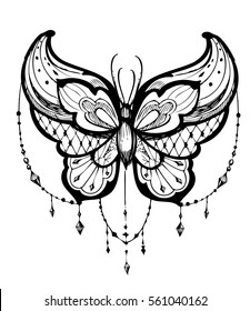b7db1af40 Butterfly Tattoo Images, Stock Photos & Vectors | Shutterstock