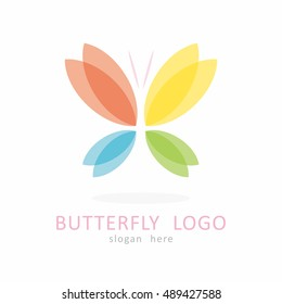 BUTTERFLY TEMPLATE LOGO ICON