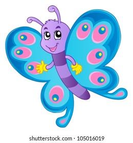 Butterfly theme image 1 - vector illustration.