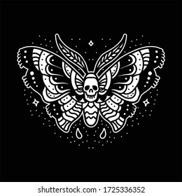 butterfly traditional tattoo vector design