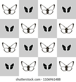 butterfly, vector, art