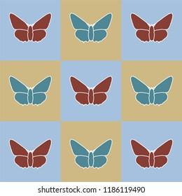 butterfly, vector. art.