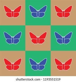 butterfly, vector, art