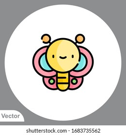 Butterfly vector icon sign symbol