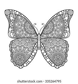 Ausmalen schmetterling zum mandala Ausmalbilder Schmetterling