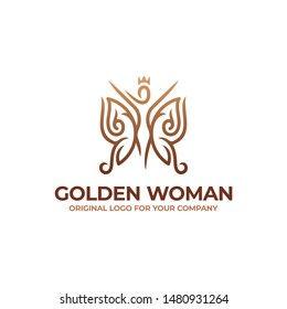 Butterfly and woman logo design can be used as symbols, brand identity, icons, or others. luxury logo inspiration. Color and text can be changed according to your need.