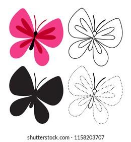 butterfly worksheet vector design