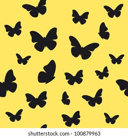 Butterfly yellow pattern. Vector illustration