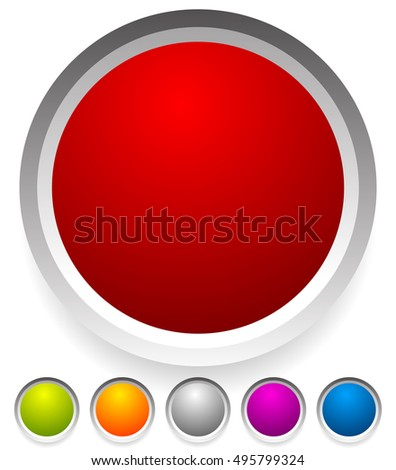 Button Badge Shapes Backgrounds Several Colors Stock Vector (Royalty