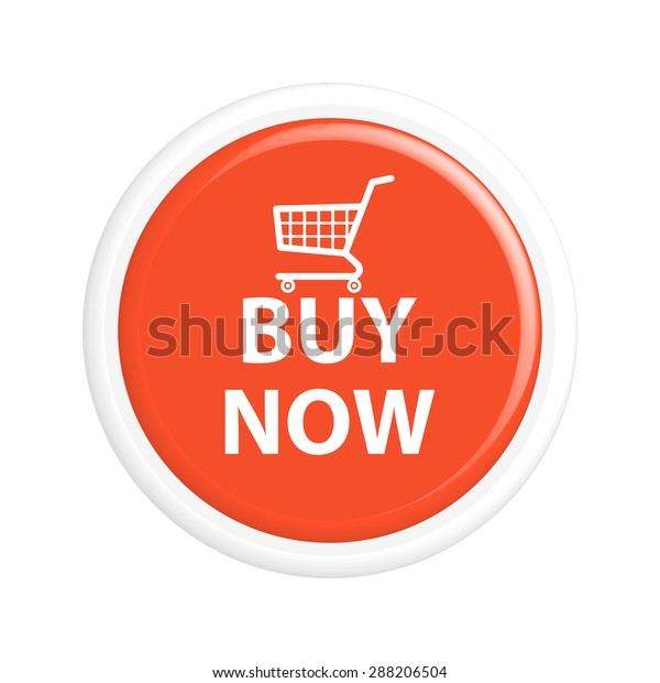 Button buy now. The round shape. 3D. Vector illustration.