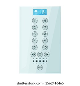 Button of elevator vector icon.Cartoon vector icon isolated on white background button of elevator .