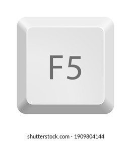 Button with F5 symbol . Icon Vector Illustration.