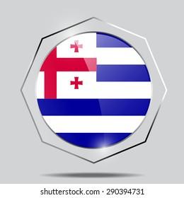 Button Flag of ajaria