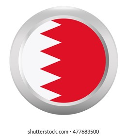 Button with flag of Bahrain