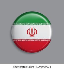 button Flag of Iran