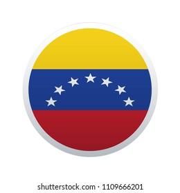 Button Flag Map of Venezuela