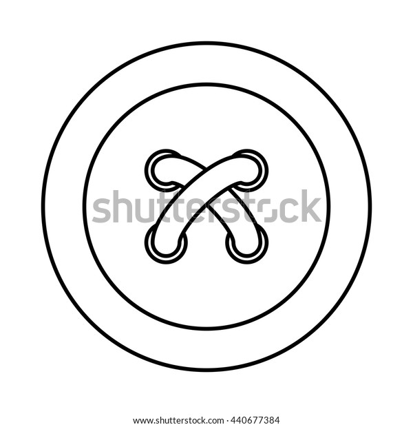 button icon. Tailor and Sewing. Vector graphic