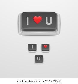 Button Love icon.