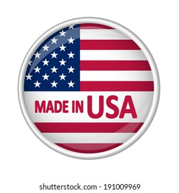Button - MADE IN USA