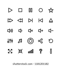 button multimedia icons