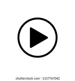 Button play icon vector