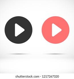 button player vector icon