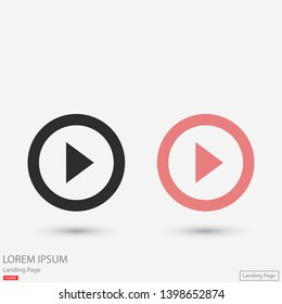 button player vector icon. lorem ipsum Flat Design