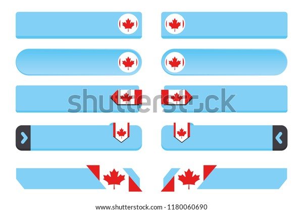 A Button Set with the Country Flag of  Canada