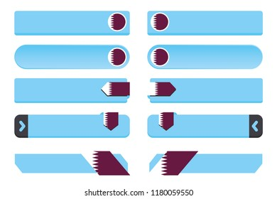 A Button Set with the Country Flag of  Qatar