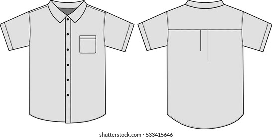 button up shirt template images stock photos vectors. Black Bedroom Furniture Sets. Home Design Ideas