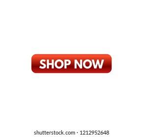 Button for a site. Shop now, icon. vector design
