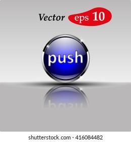 Button for a site. Vector icon.