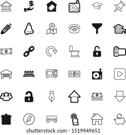 button vector icon set such as: redo, trend, old, spices, library, salt, cone, secure, transportation, electronic, grinder, arm, secret, view, microwave, buy, grad, social, board, nib, pushpin