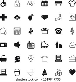 button vector icon set such as: bench, dollar, account, color, gps, money, delete, padlock, item, connection, smart, protection, disability, emergency, event, electrical, support, fashion, cash