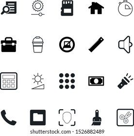 button vector icon set such as: bucket, speed, drop, creativity, stack, timer, lens, pile, id, handyman, emergency, success, ruler, real, natural, toolkit, appliance, zoom, money, page, navigation