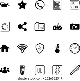 button vector icon set such as: team, film, keypad, database, industry, electricity, paper, competition, keyboard, decoration, console, contact, entertainment, oiler, estate, center, pen