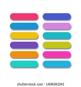 Button vector set flat style with shadow isolated on background for user interface, web site, ui, mobile app. Call to action icon button. vector 10 eps